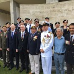 After the wreath laying with British High Commissioner, deputy speaker and veterans